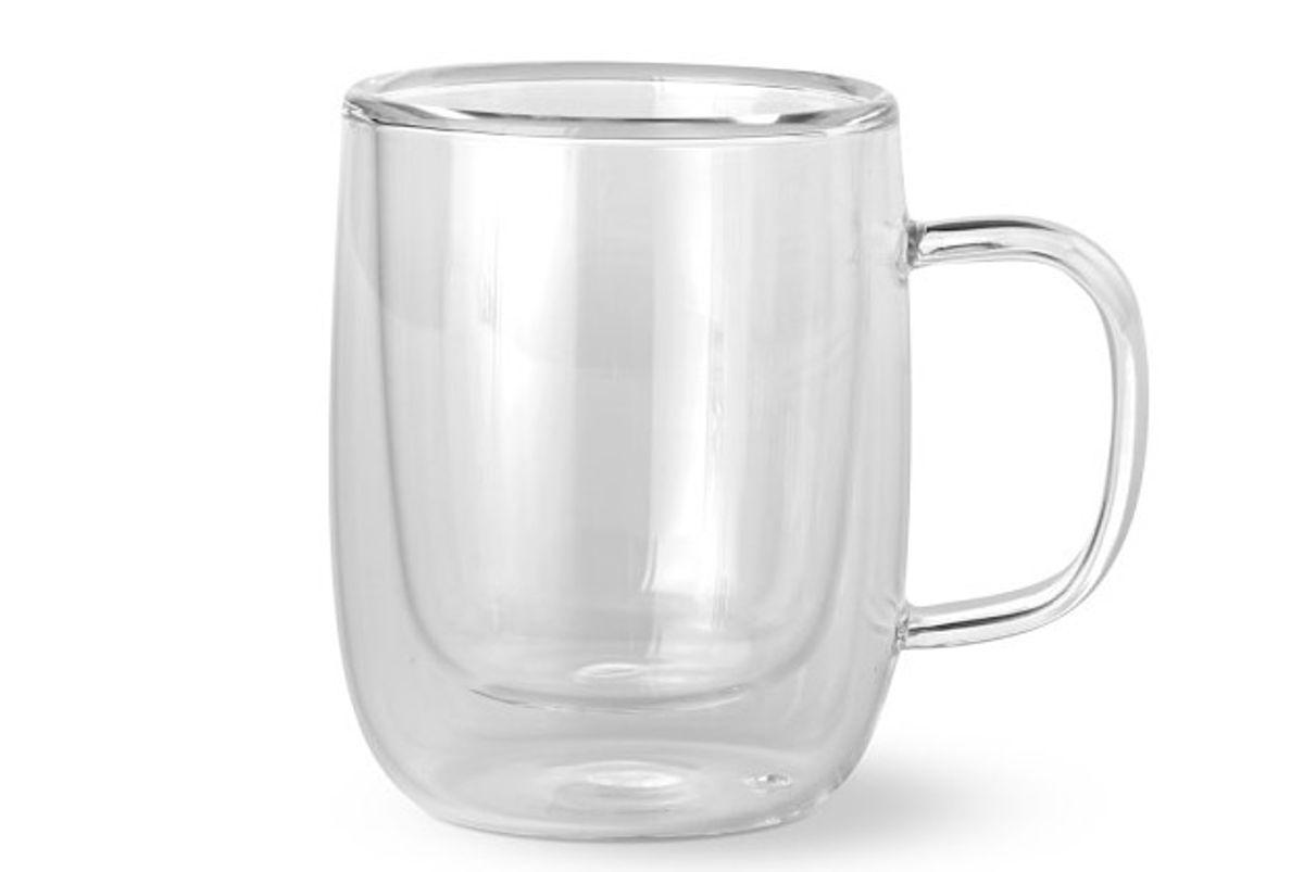 williams sonoma double wall glass espresso mugs