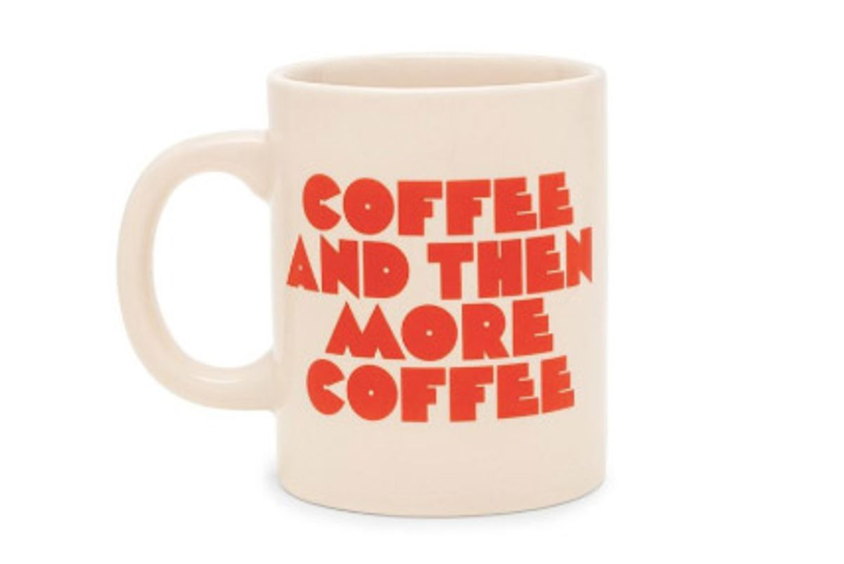 bando hot stuff ceramic mug coffee and then more coffee