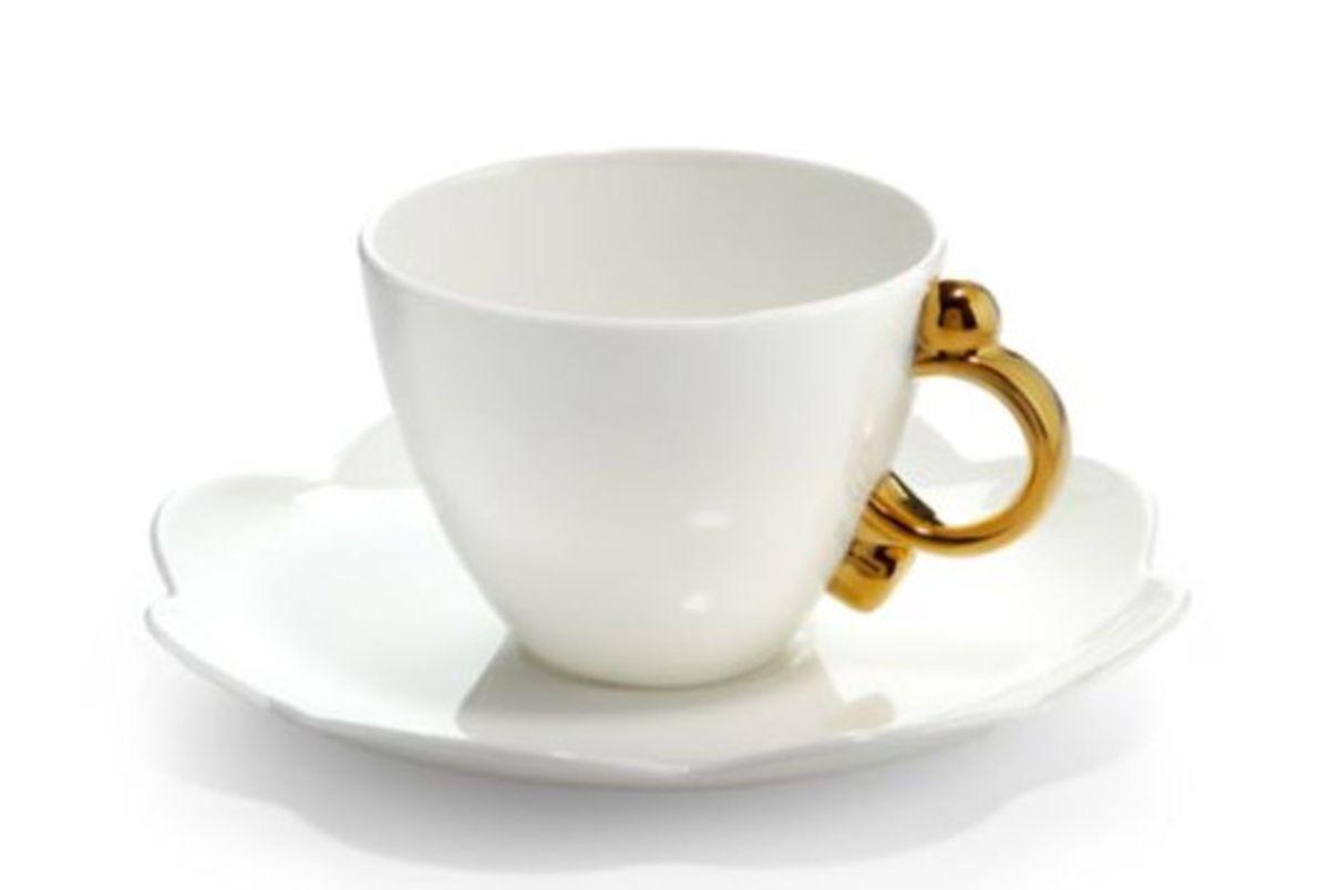 prouna geometrica tea cup saucer