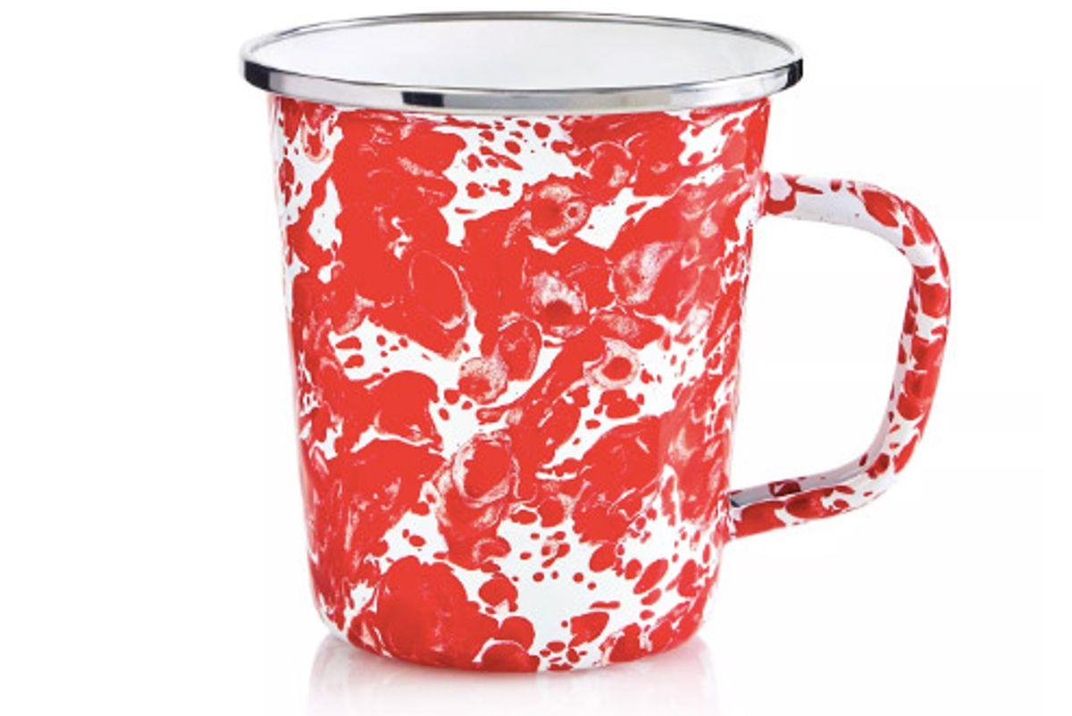 golden rabbit enamel swirl latte mug