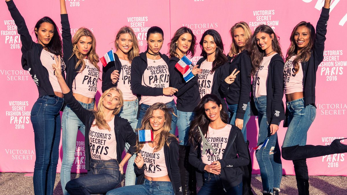 This is What It's Like to Fly to Paris with Victoria's Secret Angels