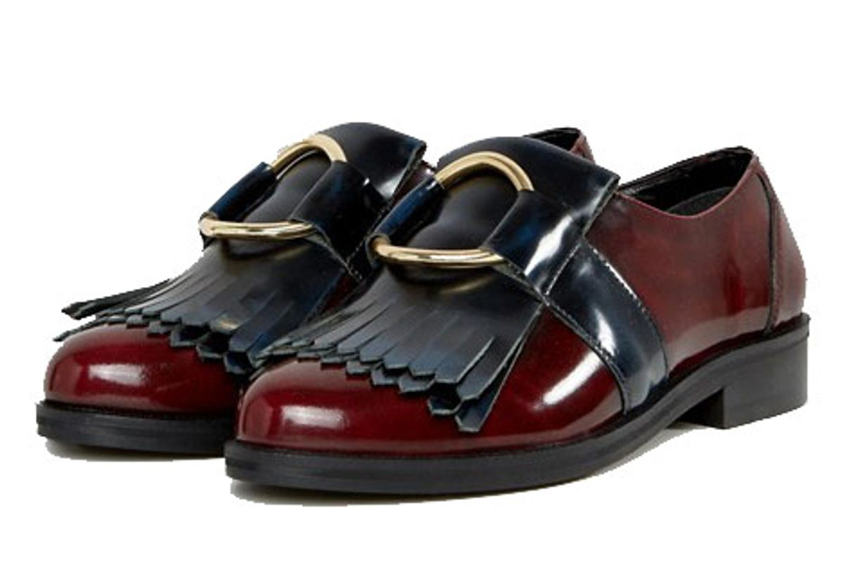 Millennium Wide Fit Leather Flat Shoes