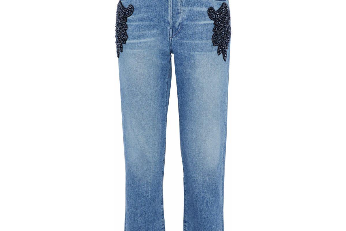 3x1 burke embellished high rise boyfriend jeans