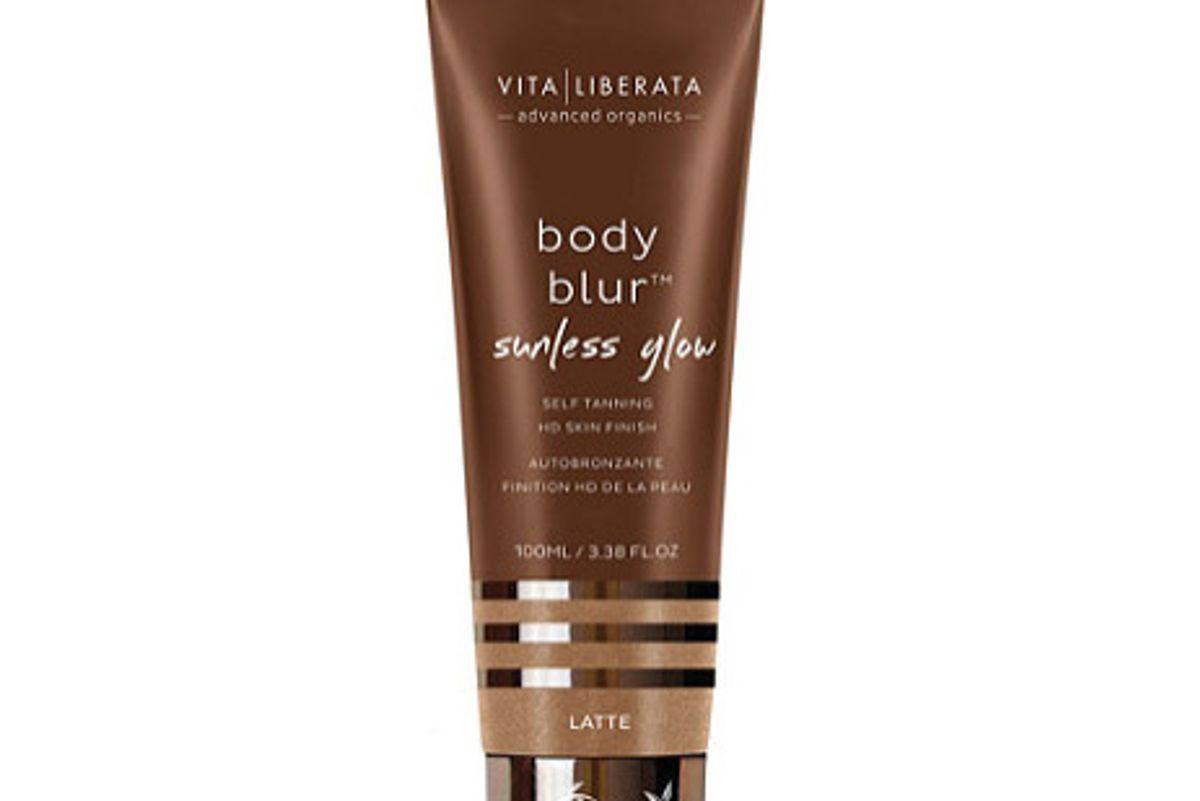 vita liberata body blur sunless glow self tanning instant hd skin finish