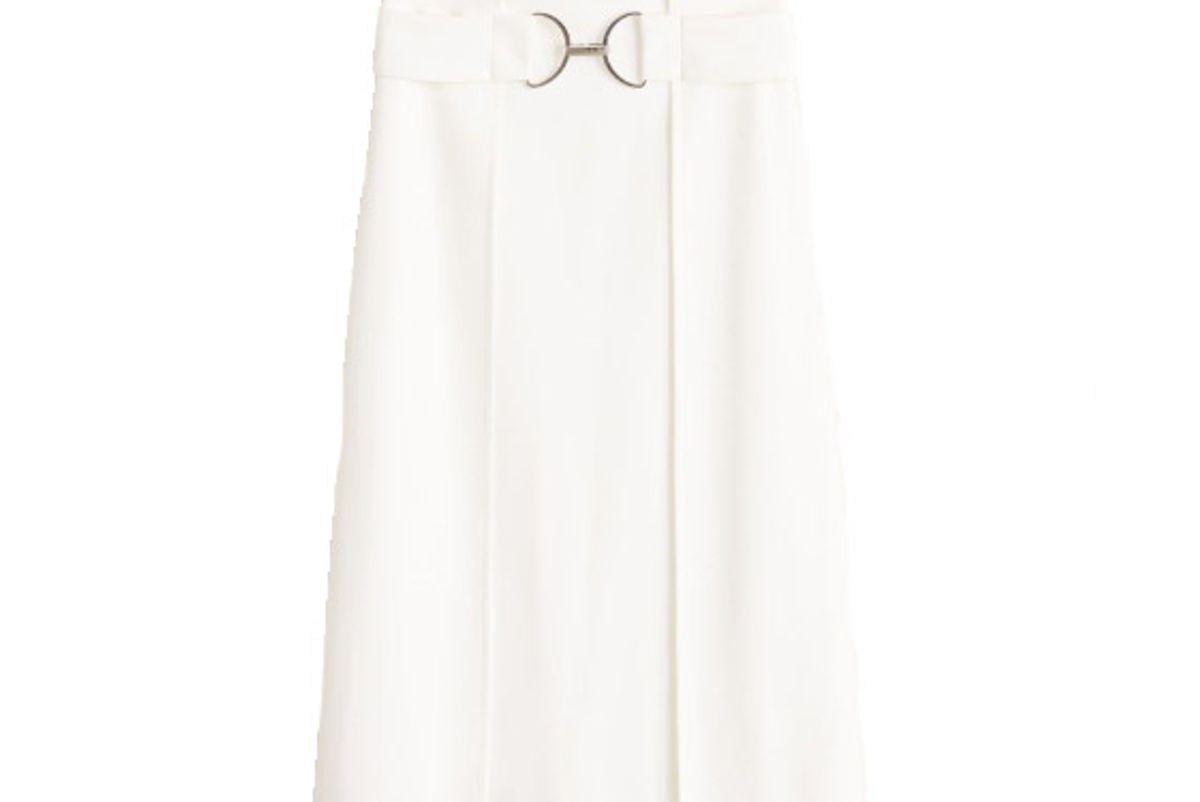 new now belt midi skirt