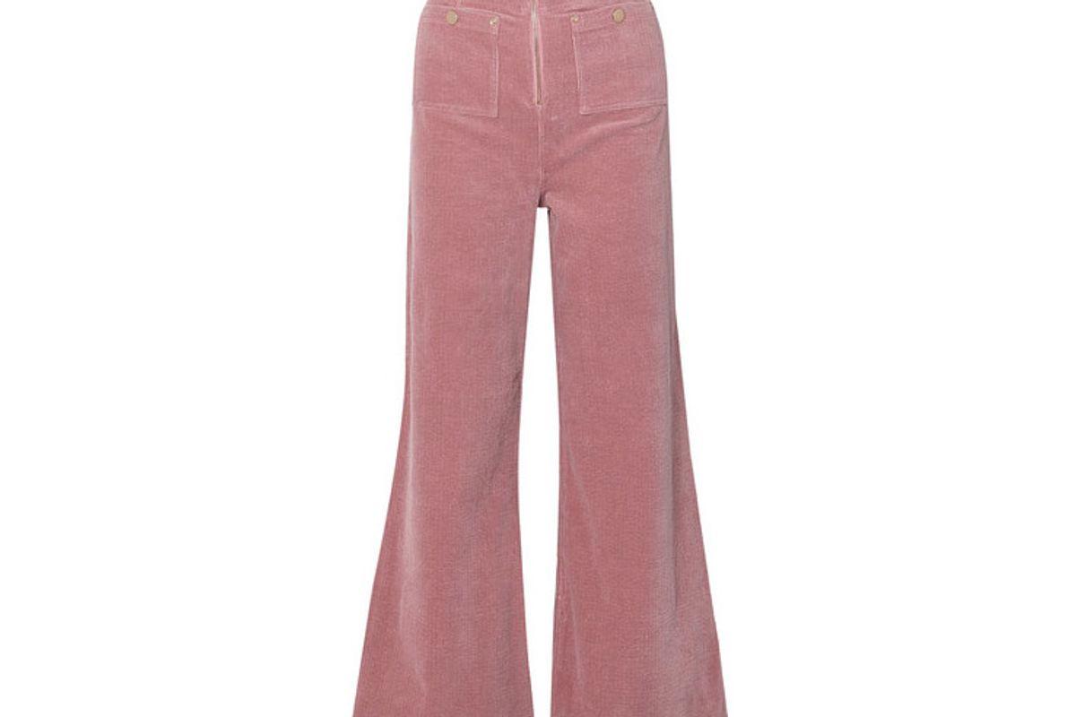 alice mccall bluesy stretch cotton corduroy wide leg pants