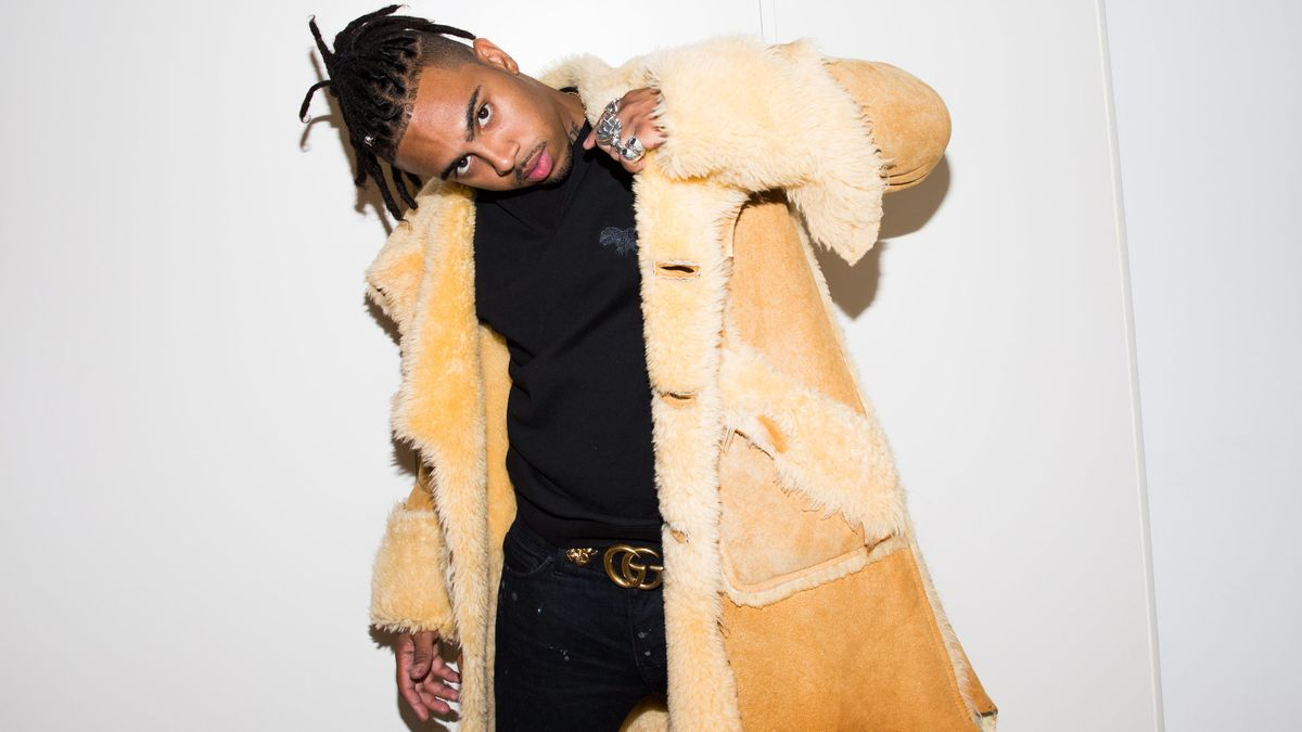 Vic Mensa Wore the Craziest Shearling Jacket to the Coach SS18 Show