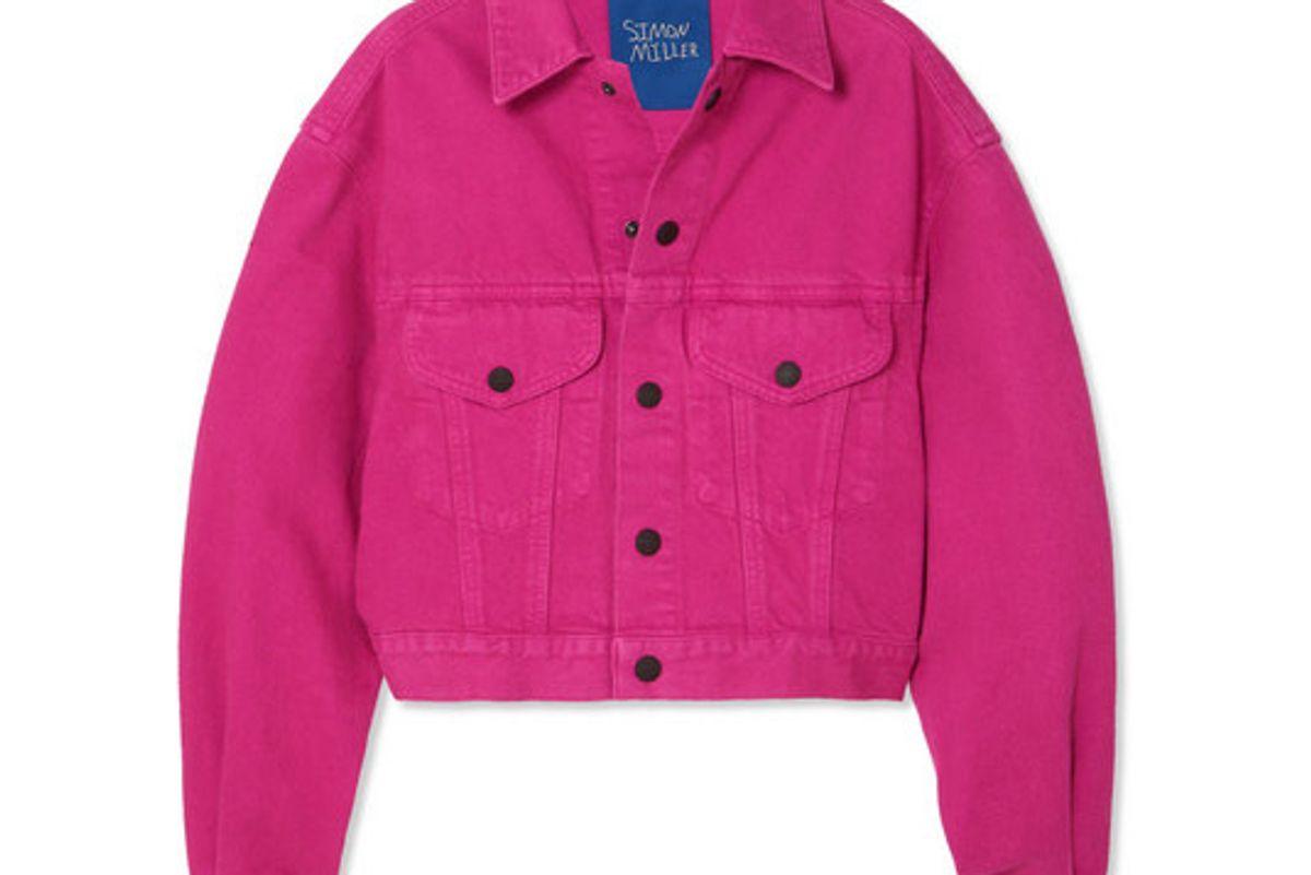simon miller morgo cropped denim jacket