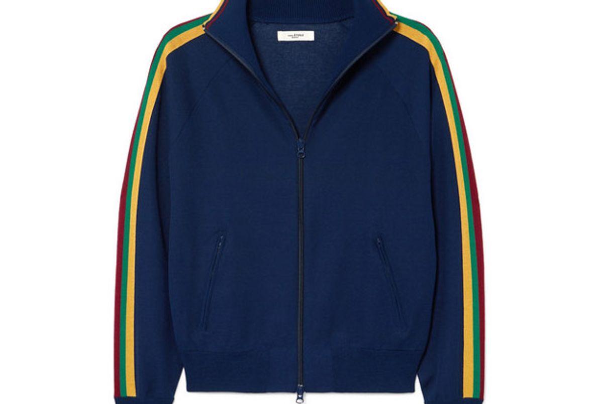 isabel marant etoile darcey striped jersey track jacket