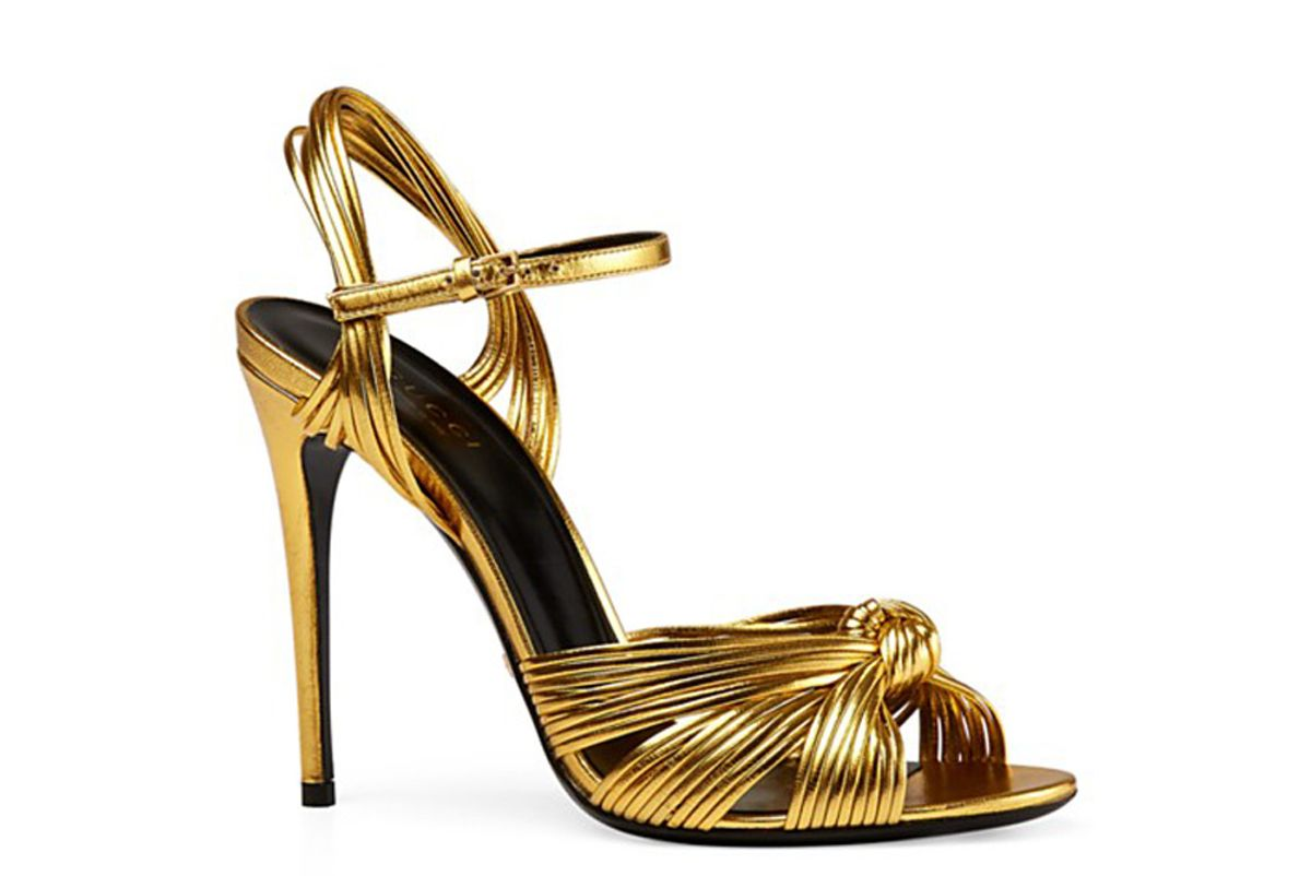 Allie Metallic High Heel Sandals