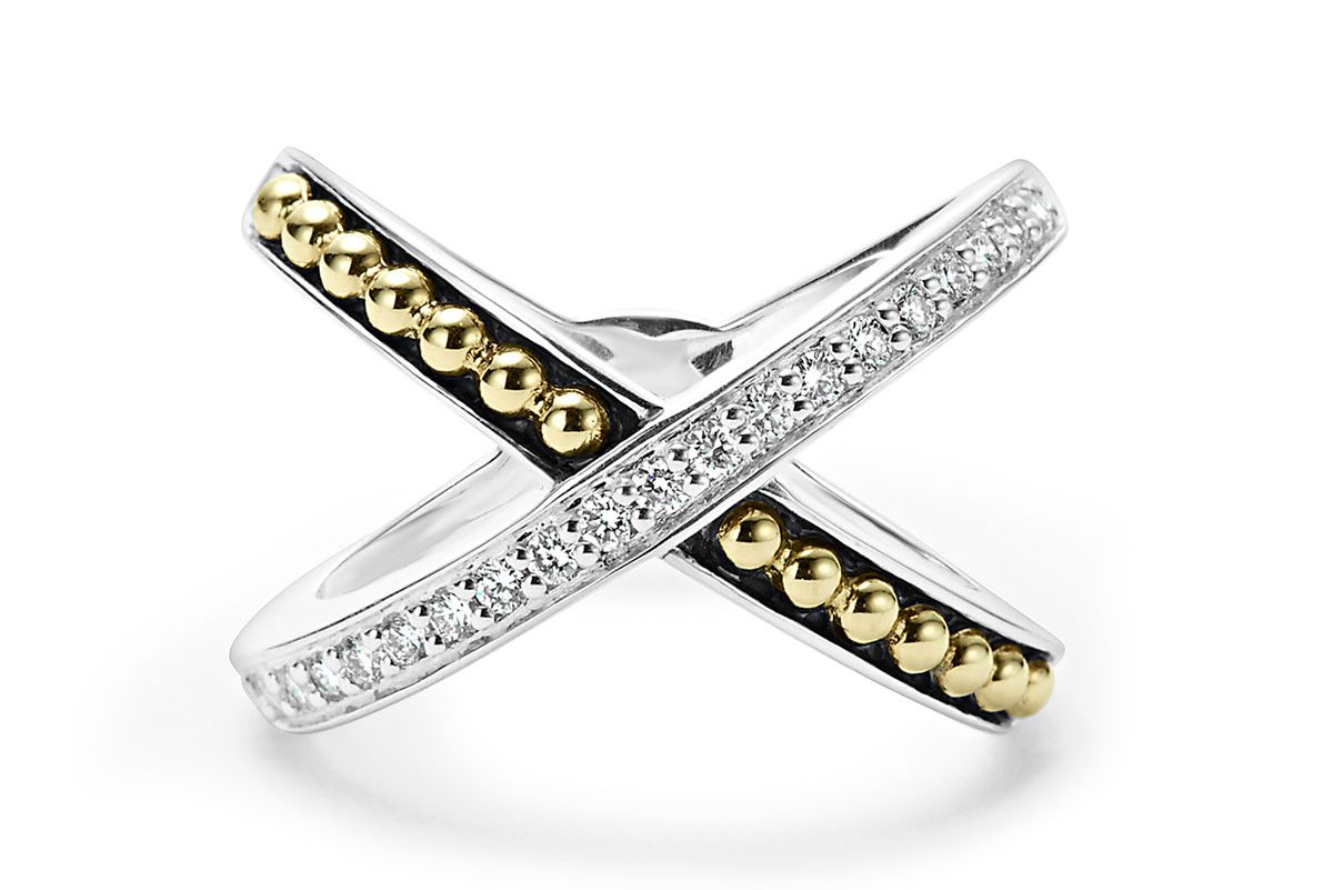 Infinity Diamond X Ring