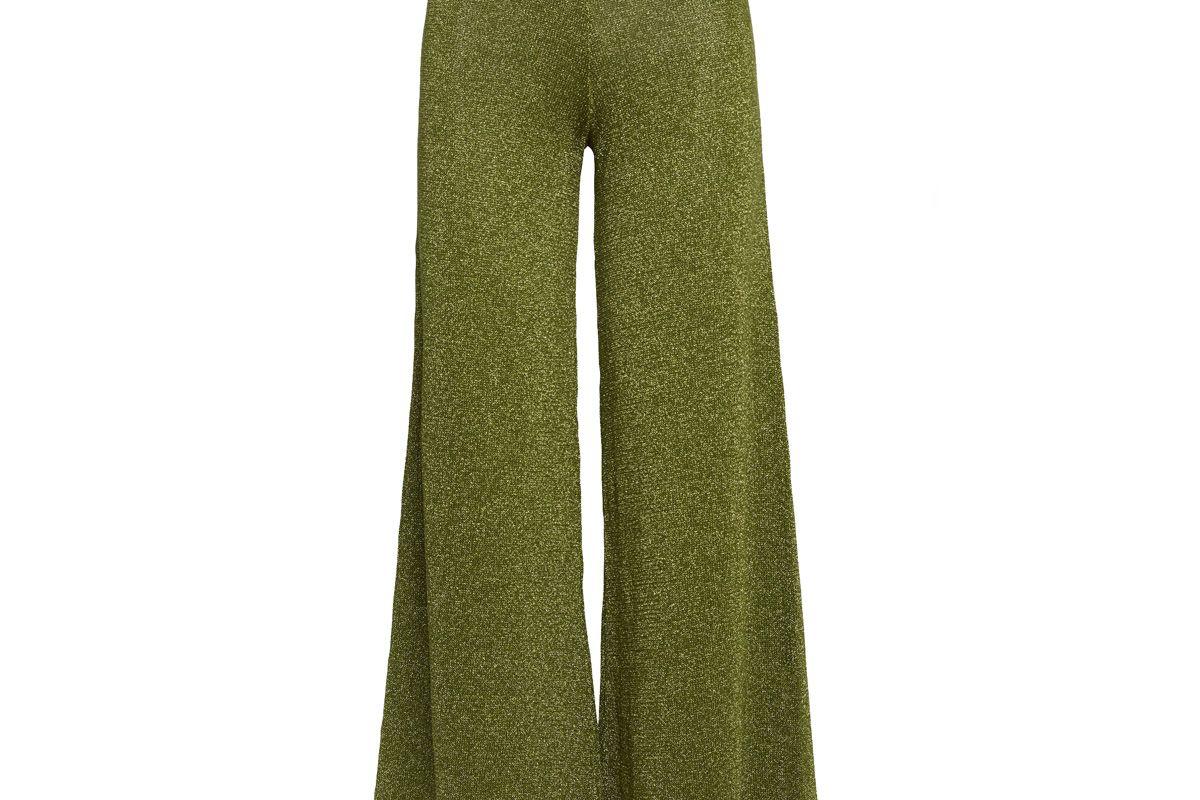 Sofia Metallic Knit Trouser