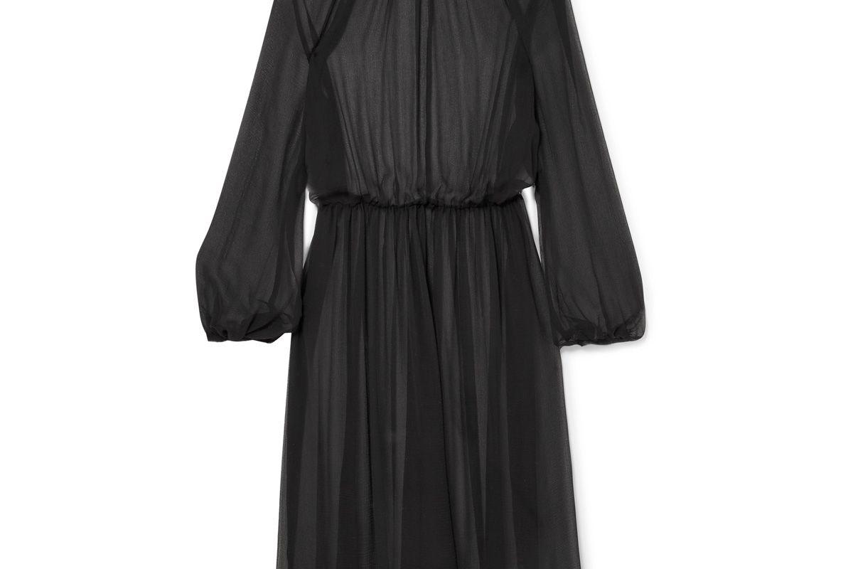 New Angel Silk-Chiffon Midi Dress