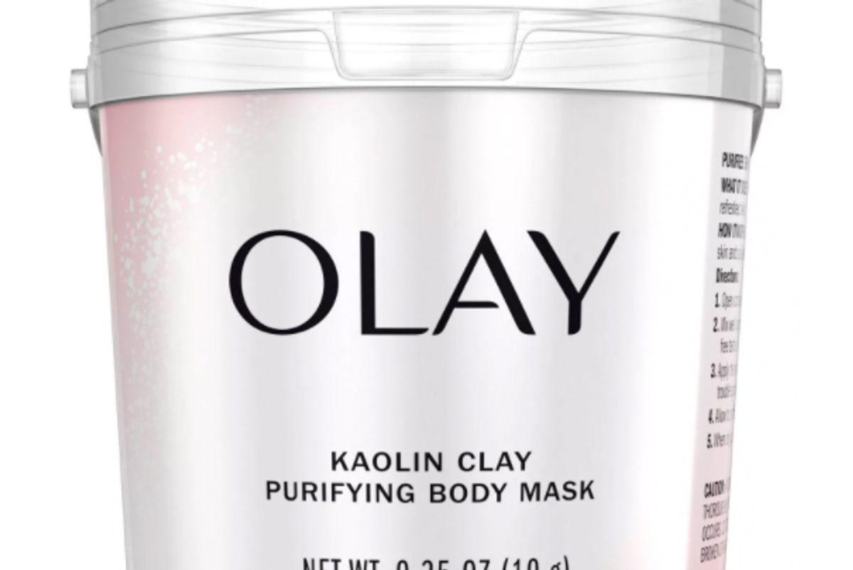 olay body purifying mask kaolin clay