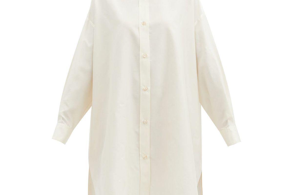 isabel marant macali silk tunic shirt