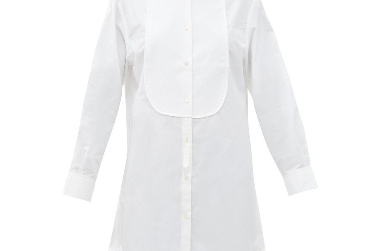 jw anderson pique bib cotton tuxedo tunic shirt