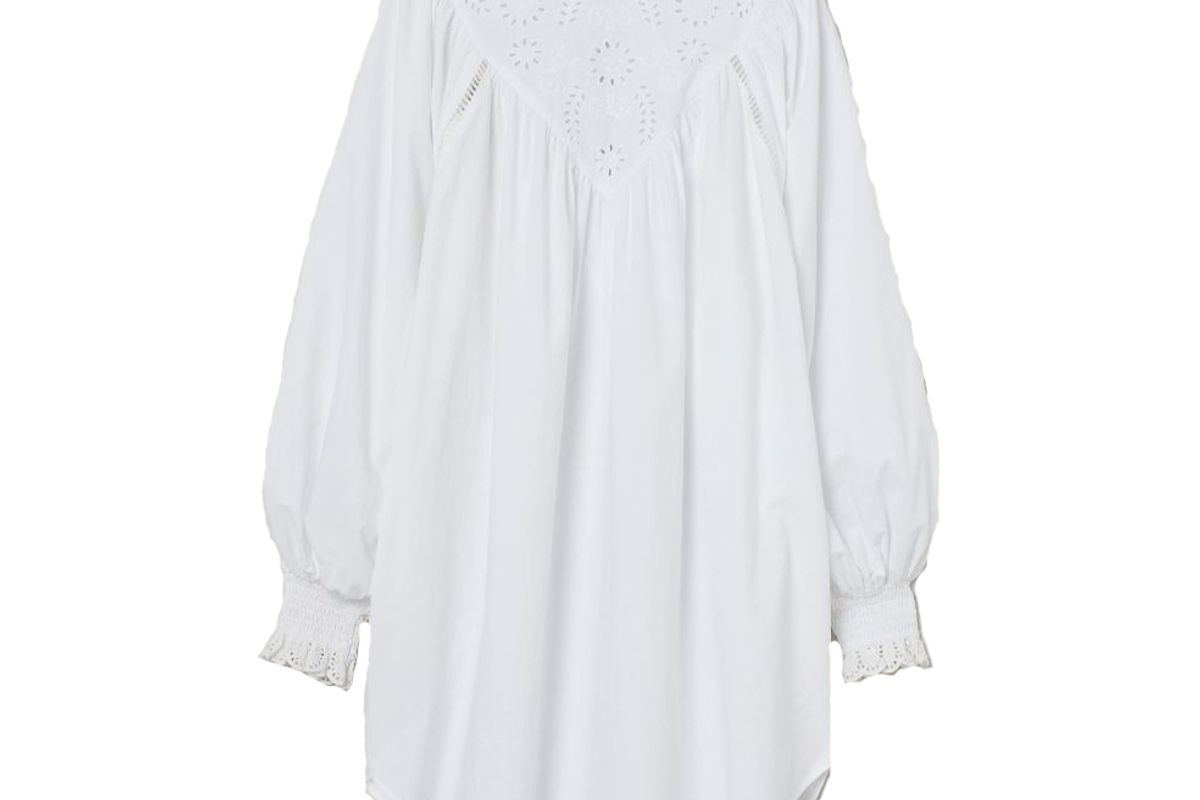 h&m embroidered detail tunic