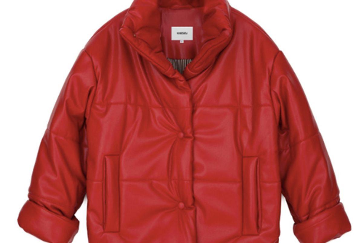 nanushka products hide red vegan leather