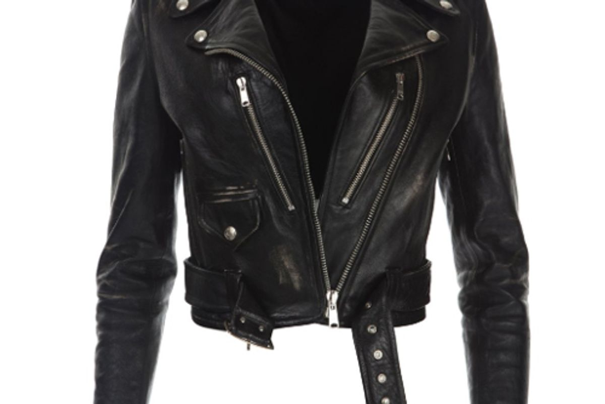 re done leather moto jacket