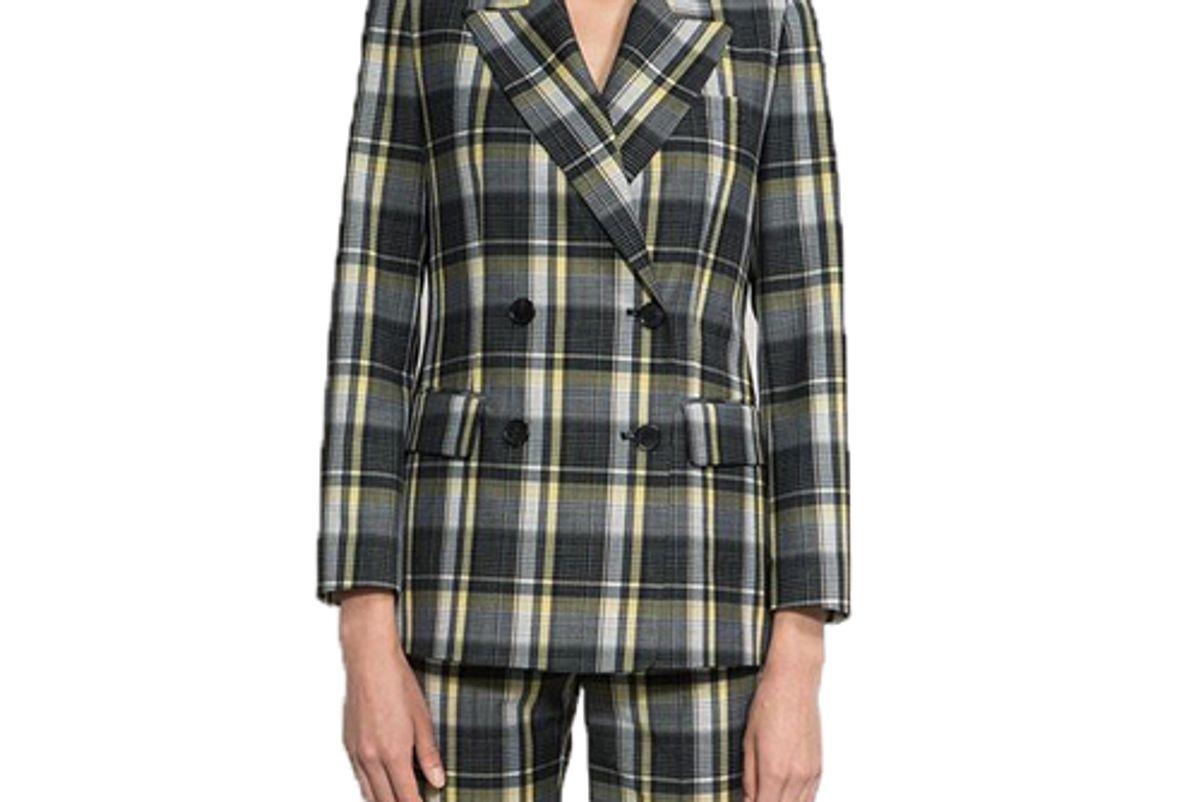joseph ann check wool tailored jacket shop