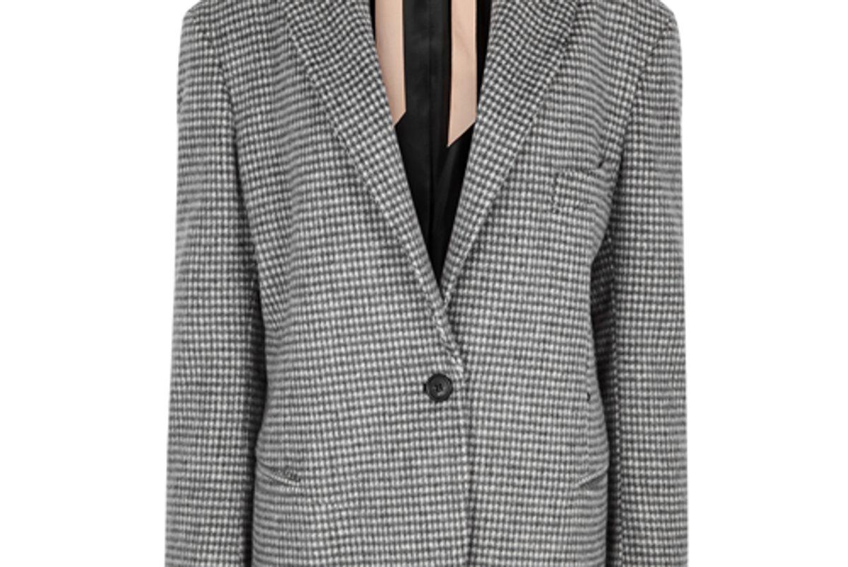 harvey nichols houndstooth wool blend blazer