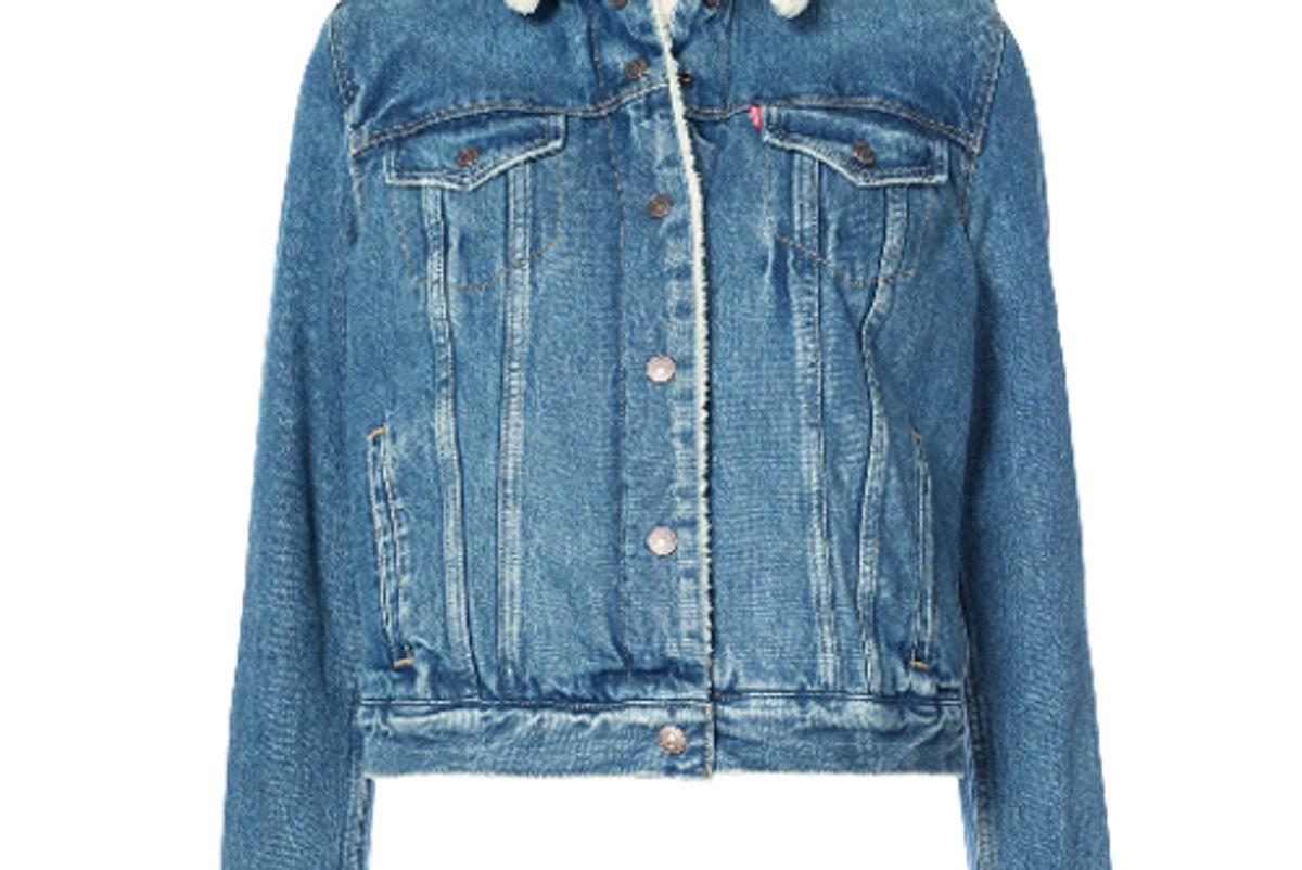 levis shearling denim jacket