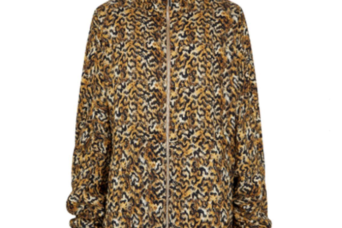 cardio leopard print rayon jacket