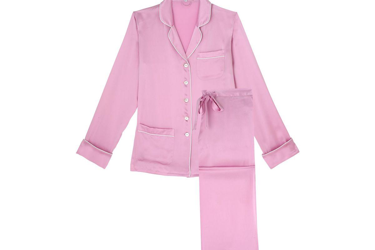 Coco Bubble Gum Silk Pyjamas