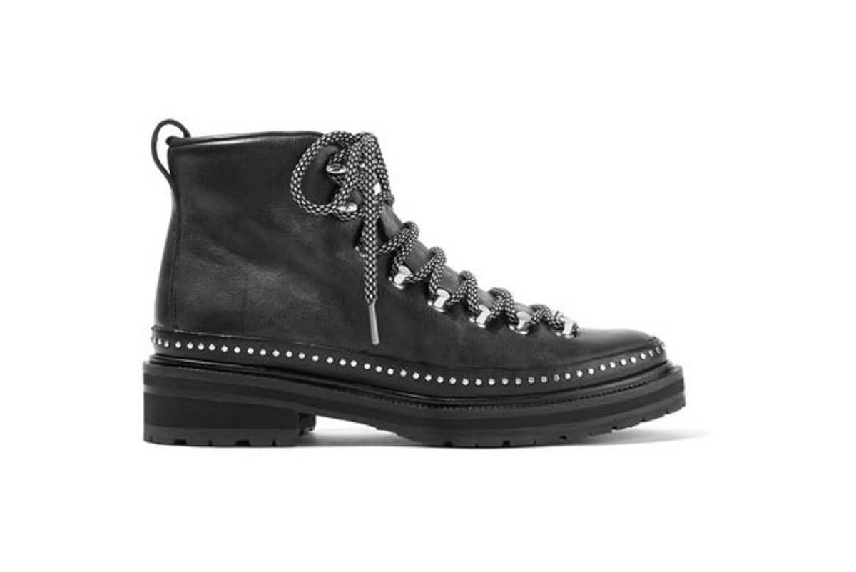 rag and bone compass ii studded leather ankle boots
