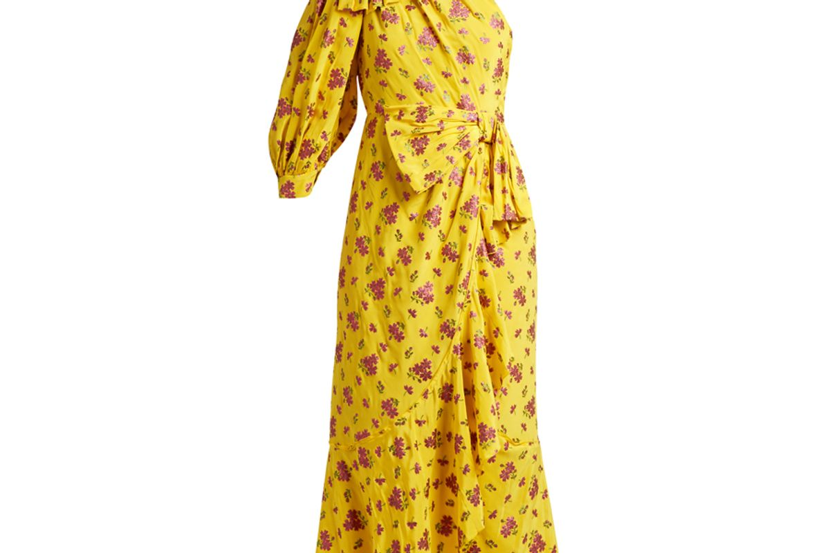 Floral Fil Coupé Silk-Blend Dress
