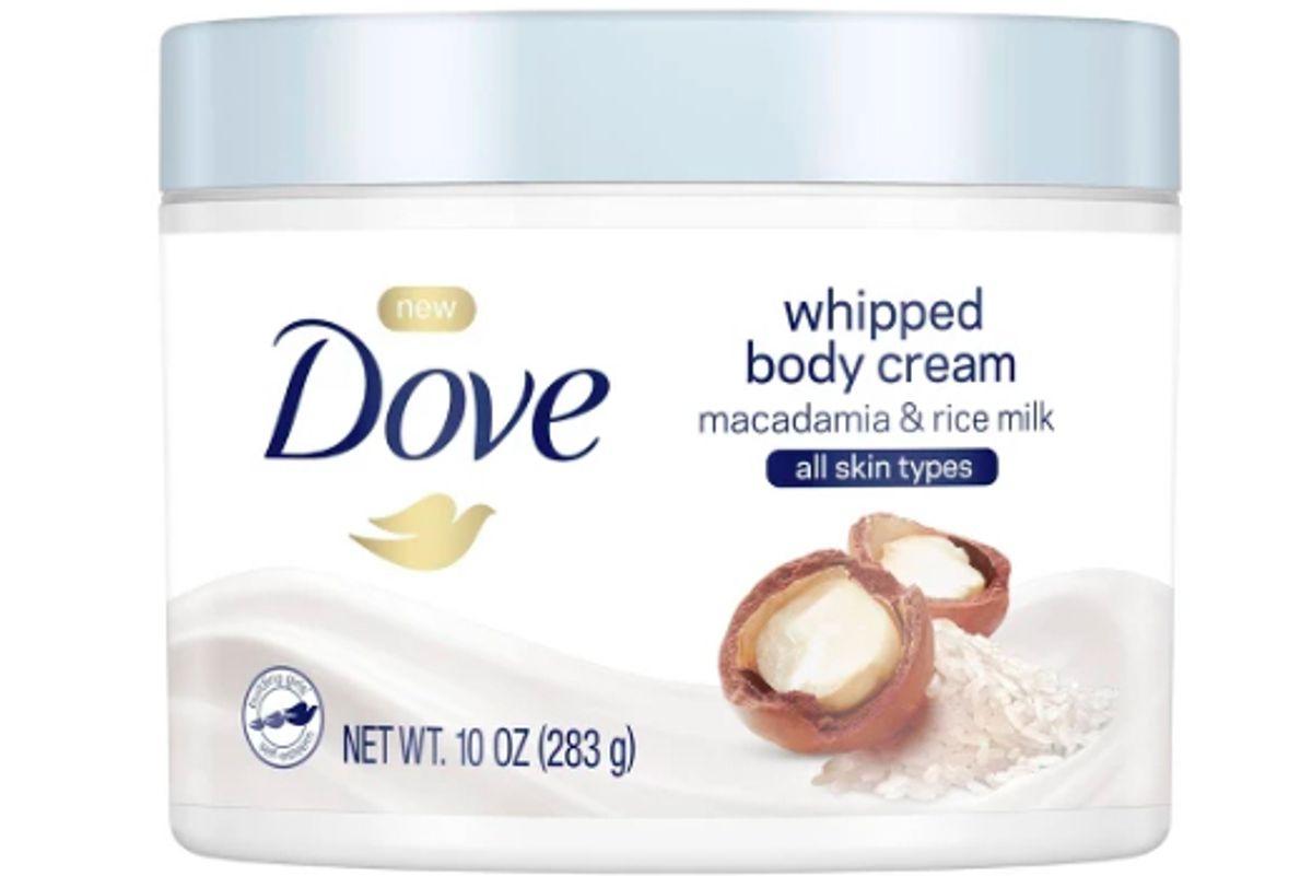 dove whipped body cream