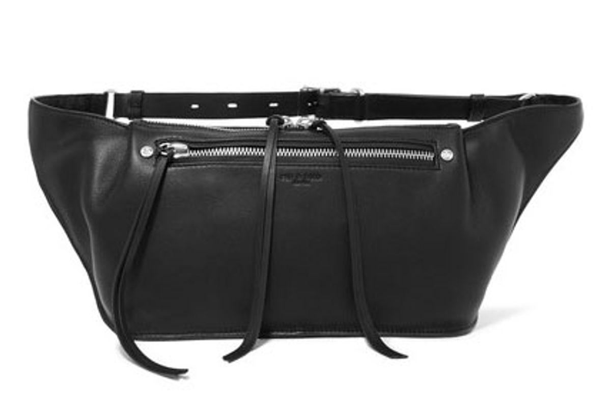 Ellis Large Textured-Leather Belt Bag
