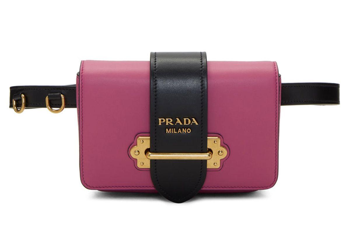 Pink Cahier Chain Belt Bag