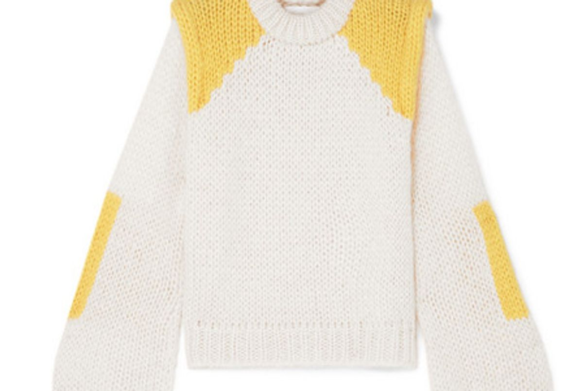 julliard color block mohair and wool blend sweater
