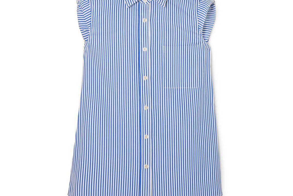 dries van noten striped cotton poplin shirt