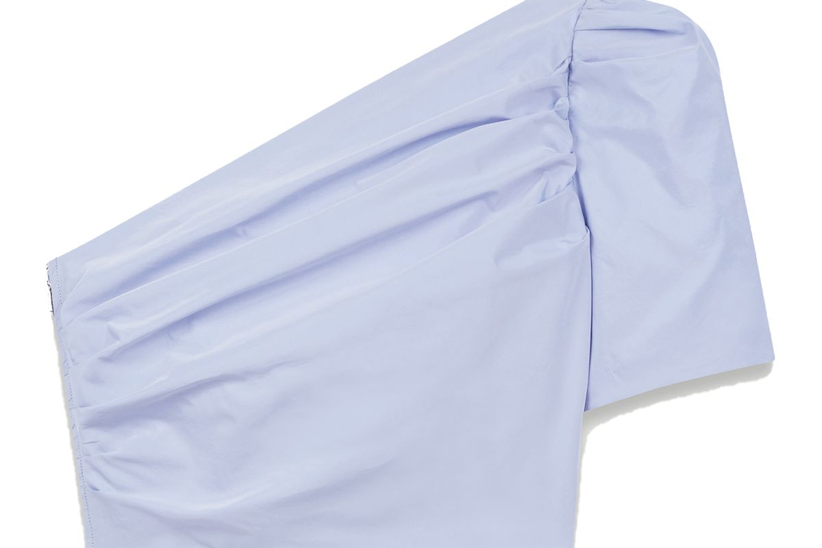 maje asymmetric taffeta top