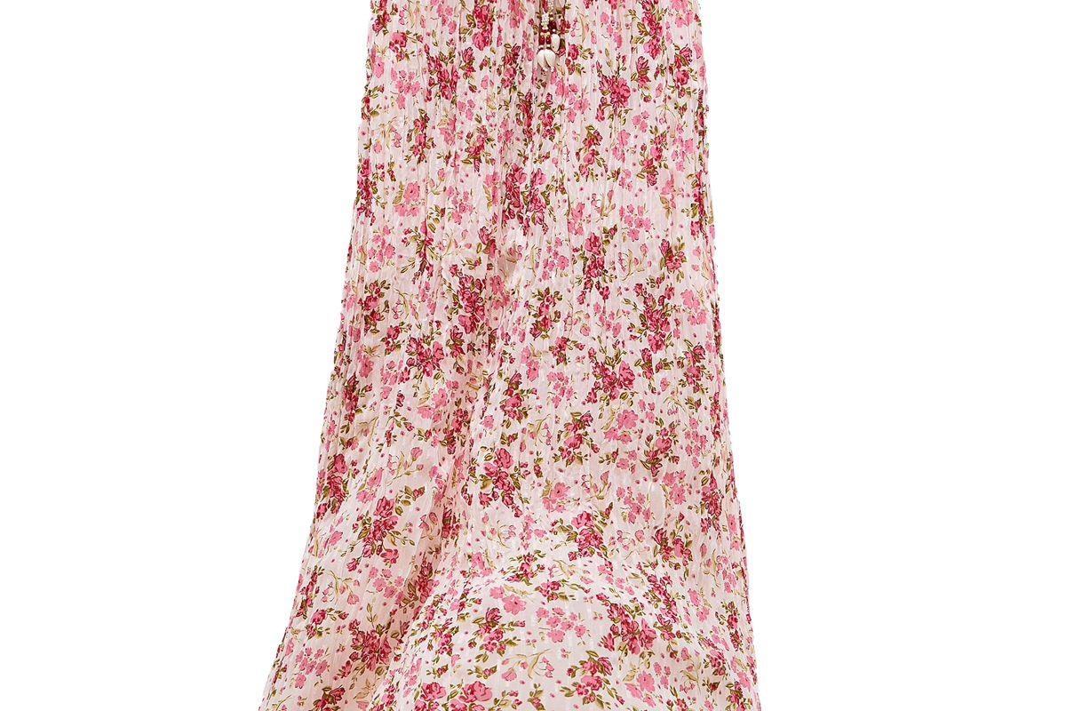 zara beaded print skirt