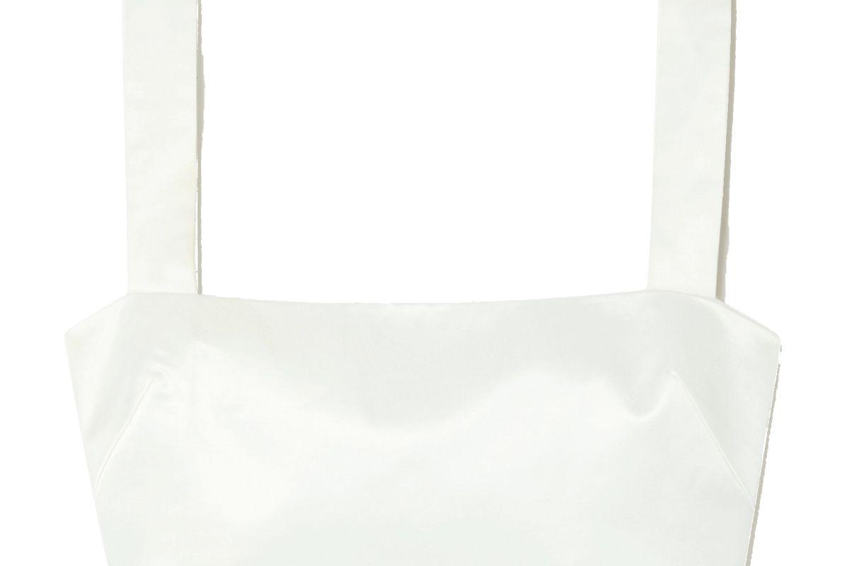 gauge 81 aurora cropped cotton blend top
