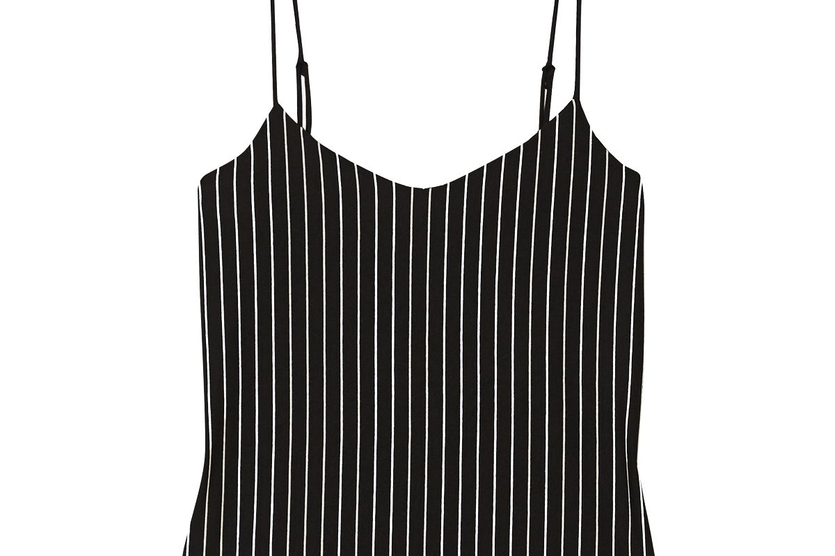 leset amber pinstriped stretch jersey camisole