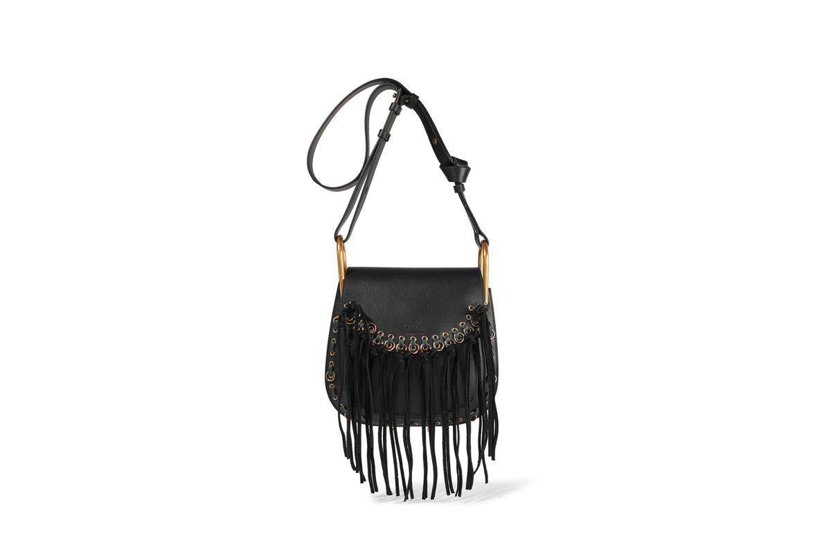 Hudson small tasseled leather shoulder bag