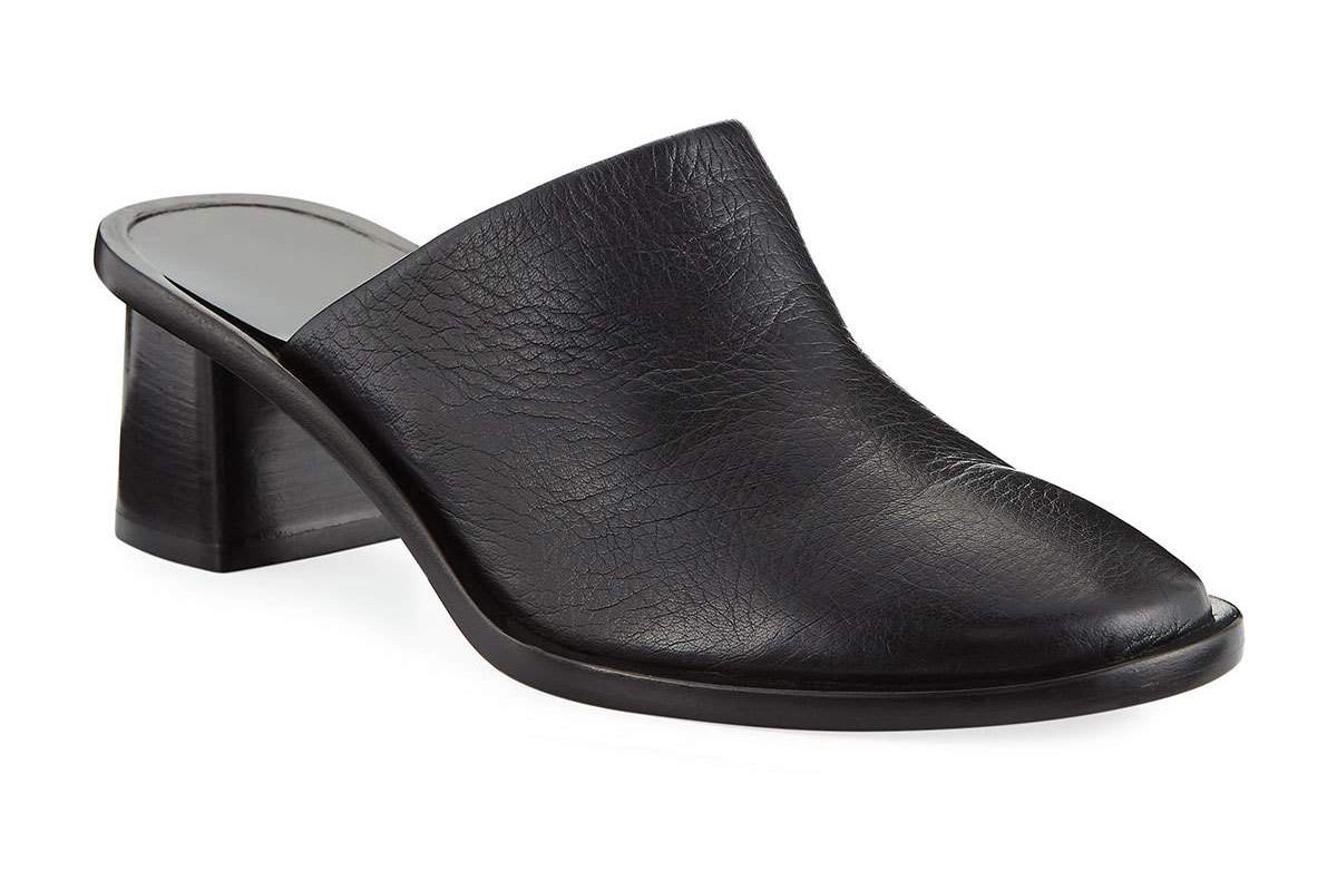 the row teatime leather mules