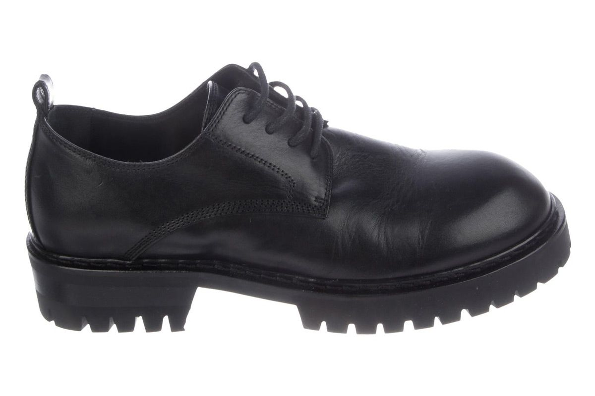 ann demeulmeester leather lace up oxfords