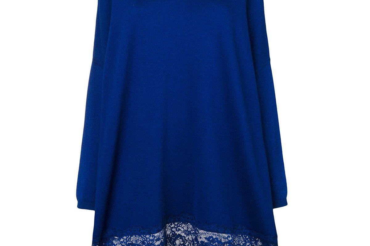 Dress with Lace Hem