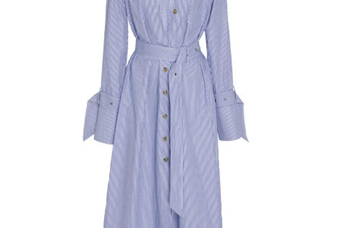 Asymmetric Placket Shirt Dress