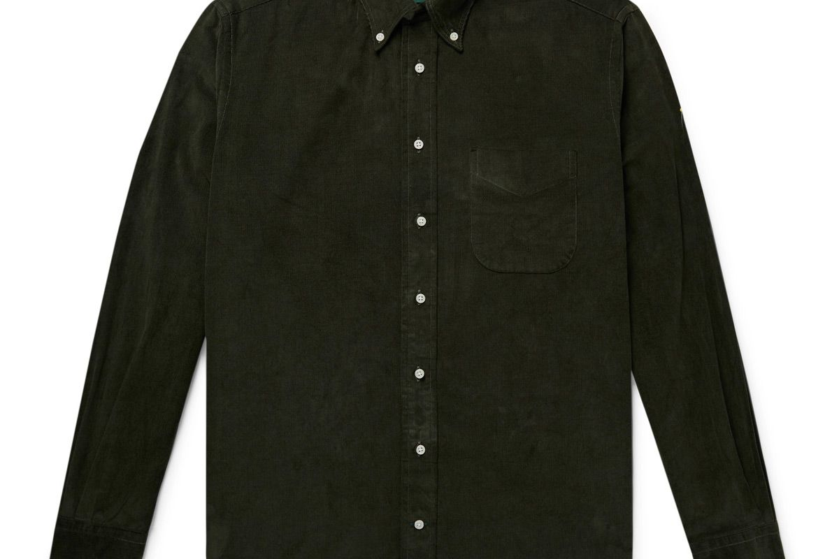gitman vintage button down collar cotton corduroy shirt