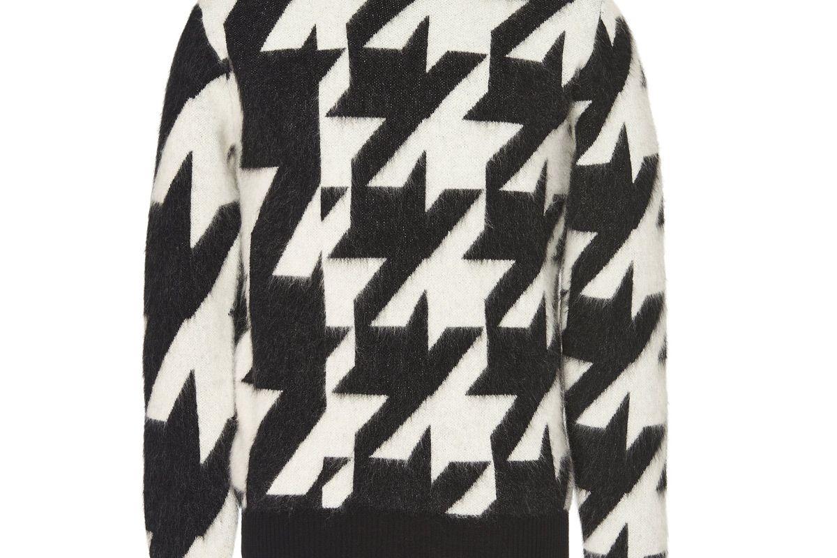 alexander mcqueen houndstooth mohair sweater