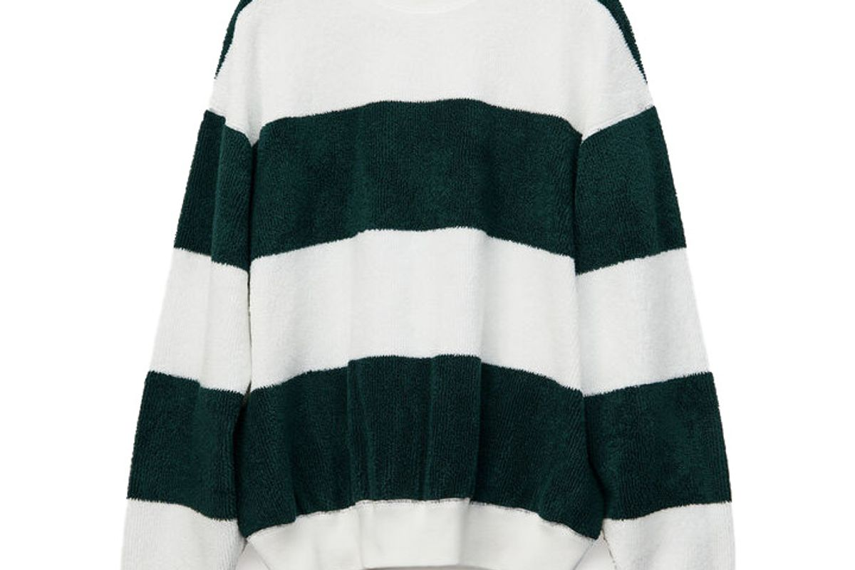alexander wang long sleeve striped pullover