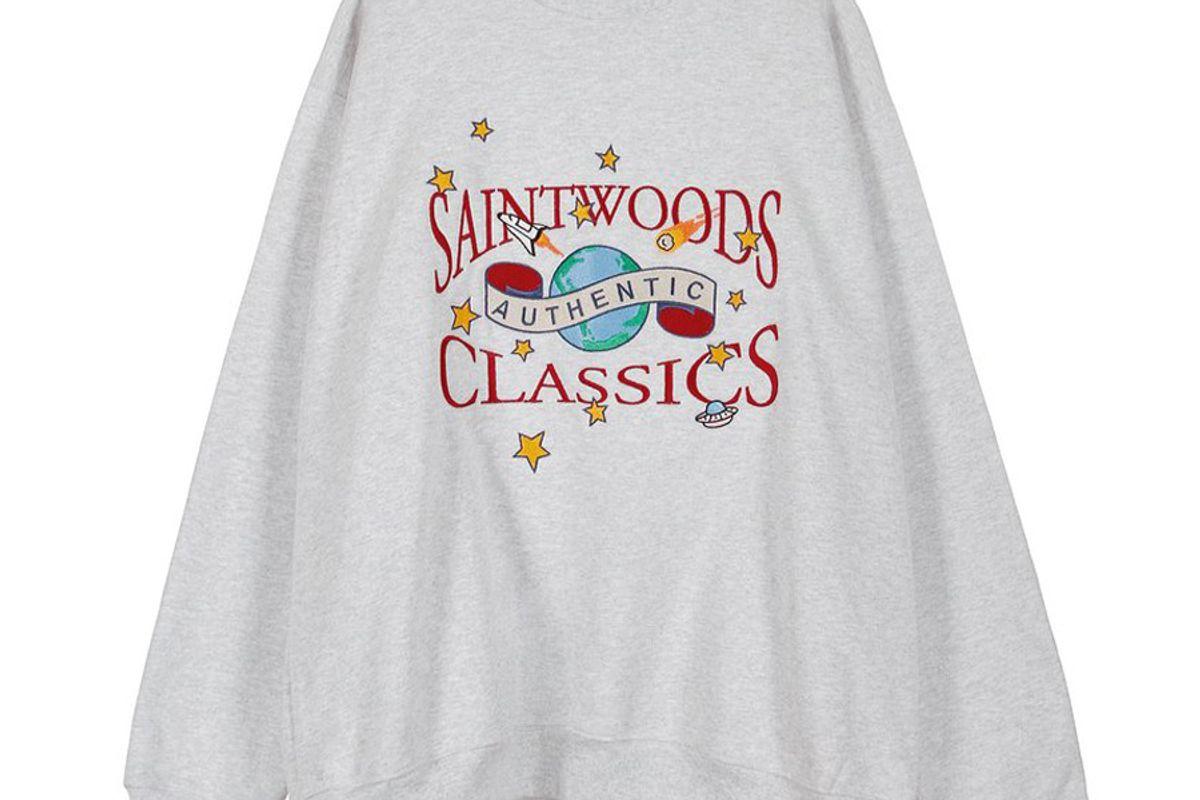 saintwoods galactic classic crewneck