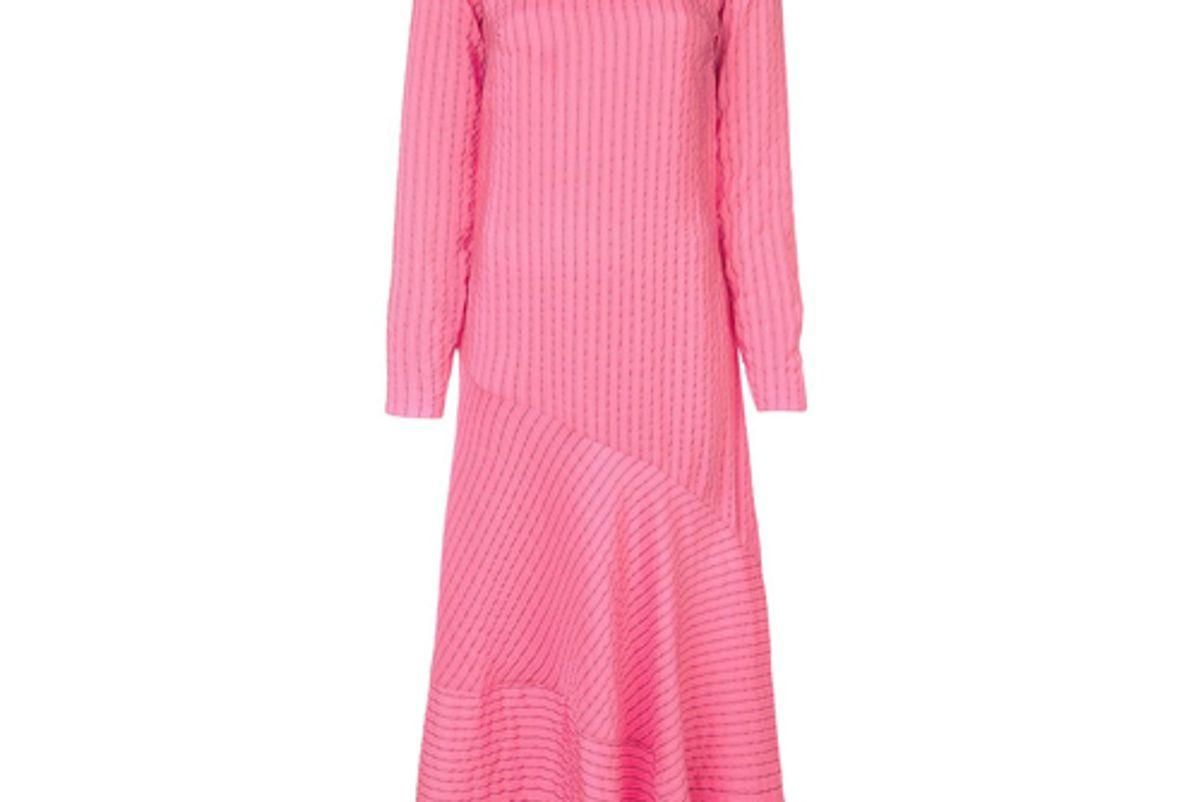 ganni paneled shift dress