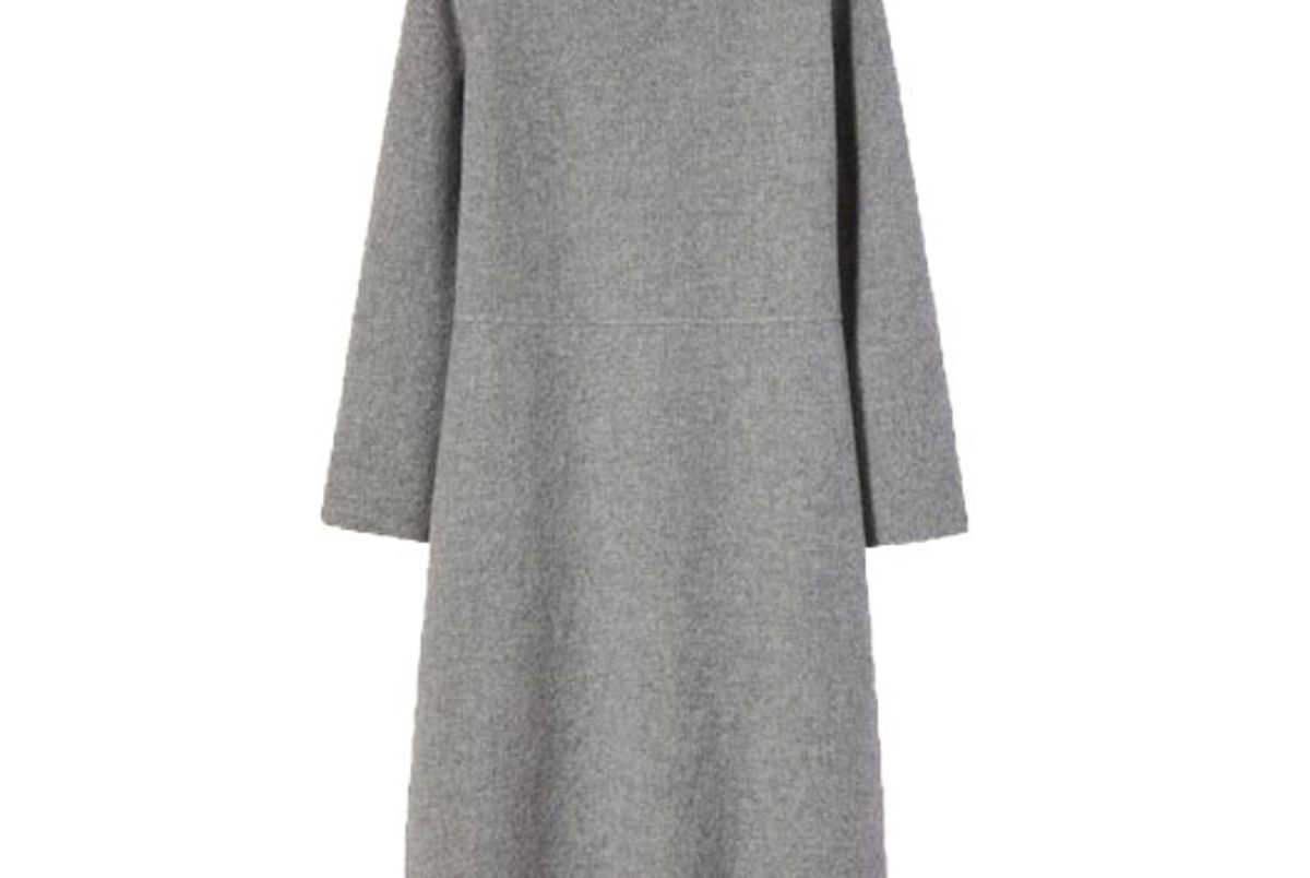 mansur gavriel cashmere long sleeve dress dark grey